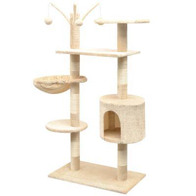 vidaXL Rascador para gatos con poste rascador de sisal 125 cm beige