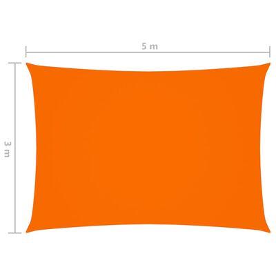 vidaXL Toldo de vela rectangular tela oxford naranja 3x5 m
