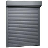vidaXL Persiana enrollable aluminio gris antracita 70x100 cm