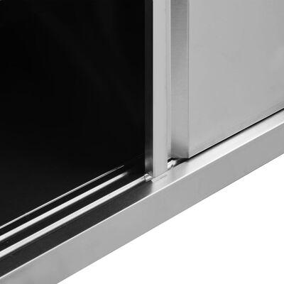 vidaXL Mesas de trabajo puertas correderas 2 ud acero 240x50x(95-97)cm