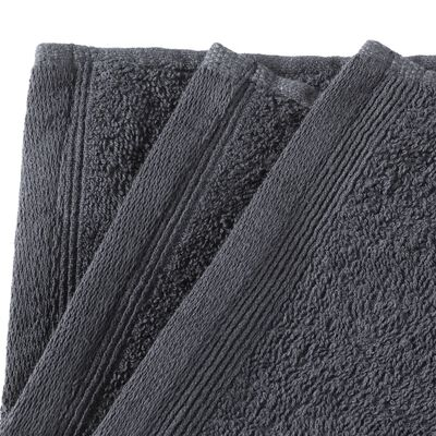 vidaXL Toallas de cortesía 10 uds algodón gris 450 g/m² 30x50 cm
