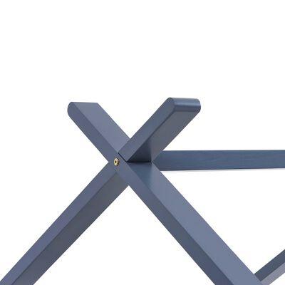 vidaXL Estructura de cama infantil madera maciza pino gris 70x140 cm