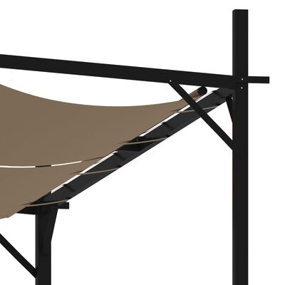 vidaXL Cenador con techo retráctil gris taupe 300x300x233 cm