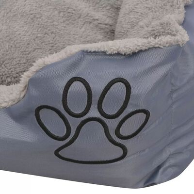 vidaXL Cama para perro con cojín acolchado talla XL gris
