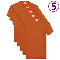 Fruit of the Loom Camisetas originales 5 uds naranja 3XL algodón