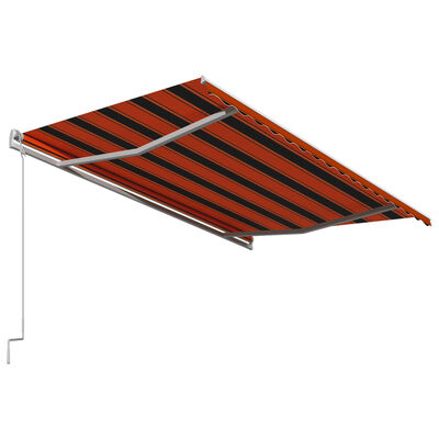 vidaXL Toldo automático retráctil naranja y marrón 450x300 cm