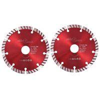 vidaXL Discos de corte de diamante con turbo acero 2 unidades 125 mm