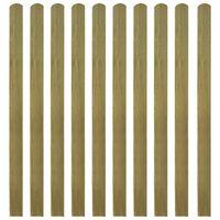 vidaXL Listones de valla de jardín 20 uds madera impregnada 140 cm