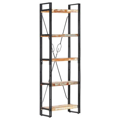 vidaXL Estantería de 5 niveles madera maciza reciclada 60x30x180 cm