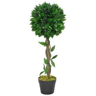 vidaXL Planta artificial árbol de laurel con macetero verde 70 cm
