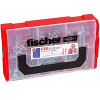 Fischer Tacos de pared y tornillos FIXtainer DUOPOWER/DUOTEC 200 pzas