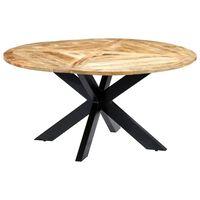 vidaXL Mesa de comedor redonda de madera maciza de mango 150x76 cm