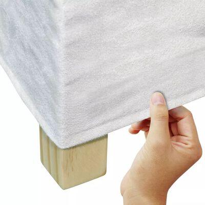 vidaXL Sillas de comedor 6 unidades tela blanco crema