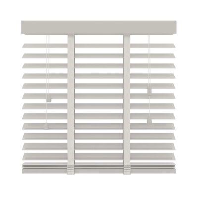 Decosol Persiana horizontal de madera 50 mm 80x130 cm blanco