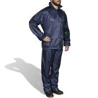 Chubasquero impermeable pantalón sudadera hombre azul marino XXL