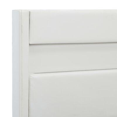 vidaXL Estructura de cama con LED cuero sintético blanco 90x200 cm