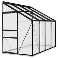 vidaXL Invernadero de aluminio gris antracita 5,24 m³