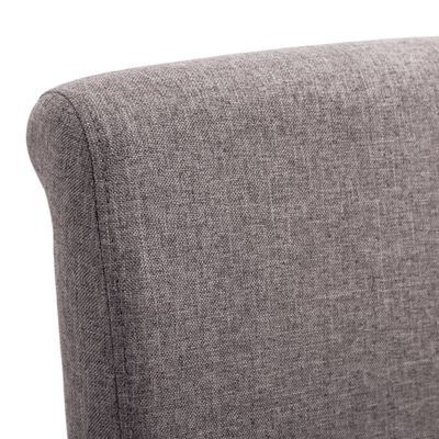 vidaXL Silla de comedor 4 unidades de tela gris taupe