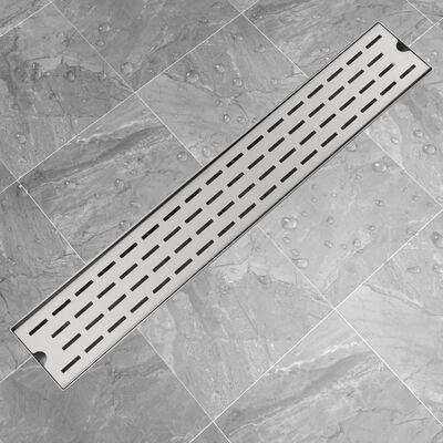 vidaXL Desagüe lineal de ducha 730x140 mm acero inoxidable