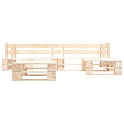 vidaXL Set muebles de jardín de palés 4 pzas cojines arena madera