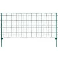 vidaXL Euro Valla de acero verde 20x1,5 m