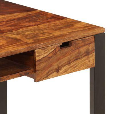 vidaXL Escritorio de madera maciza de sheesham y acero 110x55x78 cm
