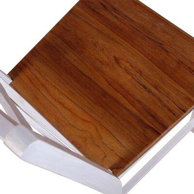 vidaXL Sillas de comedor 2 unidades madera maciza de teca y caoba