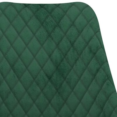 vidaXL Juego de comedor 3 piezas verde oscuro