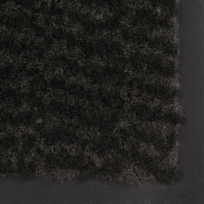 vidaXL Alfombras de entrada rectangulares de nudo 2 uds negro 60x90 cm
