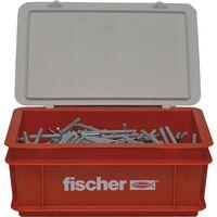 Fischer Set de tornillos clavos con tapones N6x80 300 pzas