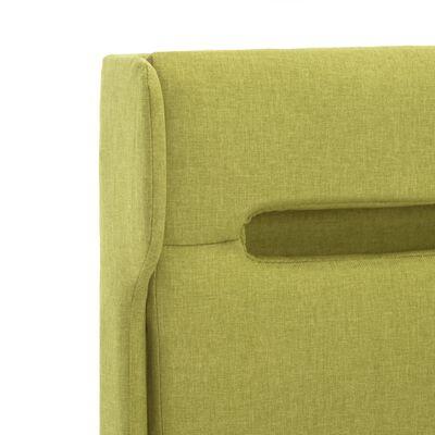 vidaXL Estructura de cama con LED tela verde 100x200 cm
