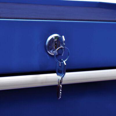 vidaXL Carrito caja de herramientas 7 cajones azul