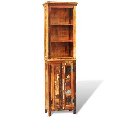vidaXL Estantería de madera reciclada estilo vintage