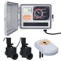 vidaXL Controlador de riego con sensor de humedad y válvula solenoide