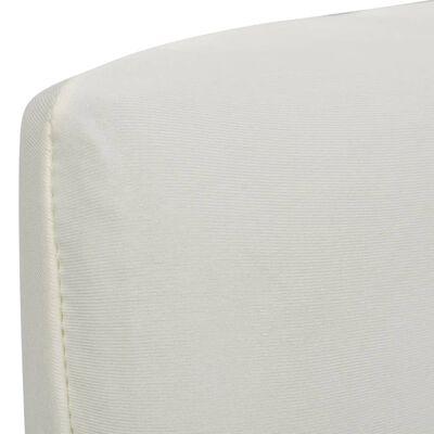 vidaXL Funda de silla elástica recta 4 unidades crema