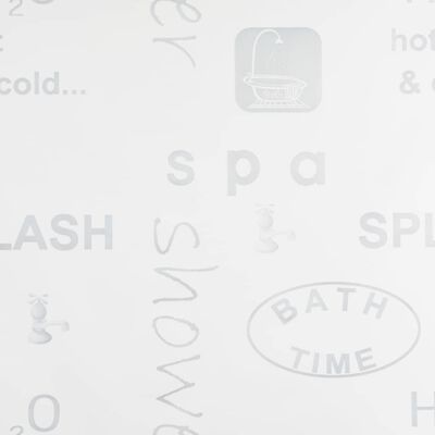 vidaXL Persiana enrollable de ducha 120x240 cm Splash