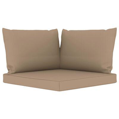 vidaXL Juego de muebles de jardín 9 piezas con cojines gris taupe