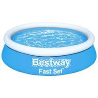 Bestway Piscina hinchable Fast Set redonda azul 183x51 cm