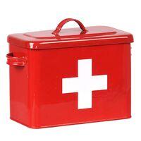 LABEL51 Botiquín de primeros auxilios rojo 30x14x21 cm