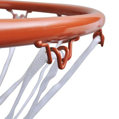 vidaXL Canasta de baloncesto con red naranja 45 cm