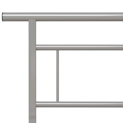 vidaXL Estructura de cama de metal gris 160x200 cm