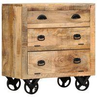 vidaXL Aparador con ruedas de madera maciza de mango 70x40x75 cm
