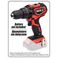 YATO Taladro atornillador sin escobillas sin batería 18V 42Nm