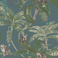 DUTCH WALLCOVERINGS Papel de pared Monkey Puzzle verde