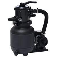 vidaXL Bomba de filtro de arena piscina con válvula 7 posiciones 18L