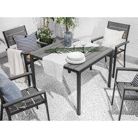 Mesa de jardín gris 95x95 cm PRATO