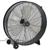 vidaXL Ventilador de tambor industrial negro 77 cm 180 W