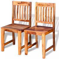 vidaXL Sillas de comedor de madera sheesham 2 unidades