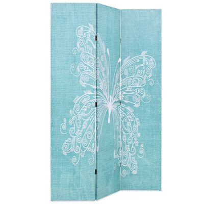 vidaXL Biombo divisor plegable 120x170 cm mariposa azul