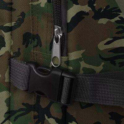 vidaXL Mochila militar 65 L Camuflaje